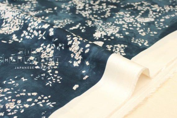 Nani Iro Kokka Japanese Fabric Lei Nani   For Beautiful Corolla Sateen   A   50cm by Etsy