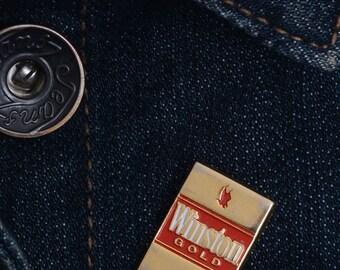 cigarette enamel pin, cigarette badges, lapel pin, enamel pin, smoke lapel pin, punk flair, punk lapel pin, backpack pin, smoking lapel pin