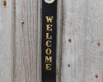 Welcome Brass Sleigh Bell Door Hanger