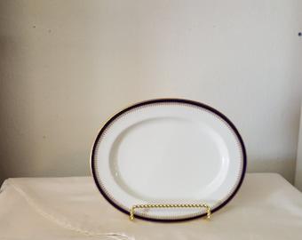 Beautiful  Spode Platter, Gold trim platter, Spode china, Spode England, serving platter, vintage platter, blue platter