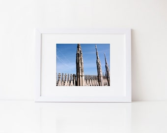 Italy Photography: Milan Duomo Print- Milan Photography, Milan Church Cathedral, Milan Photo, Milan Photos, Italy Church Architecture
