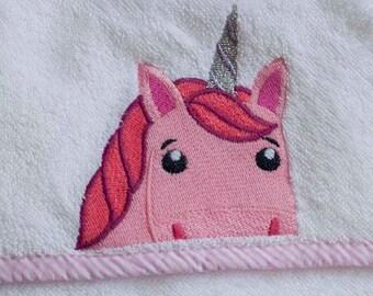 Pink Unicorn Hooded Baby Towel   Baby Towel   Hooded Towel   Unicorn Towel Hooded   Baby Girl Gift   Infant Girl Bath Towel