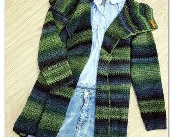 Easy to wear cardigan crochet pattern