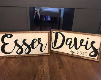 Realtor Closing Gift, House Warming Gift, Personalized Last Name Family Sign, Personalized Gift