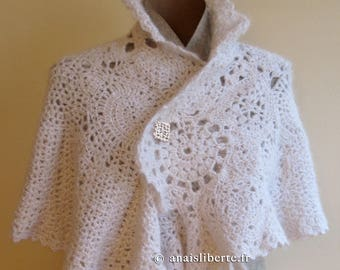 Silk and mohair Cape