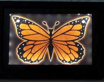 Butterfly Night Light (Small Orange)