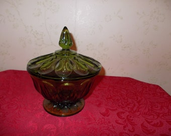 Vintage Green Candy Dish
