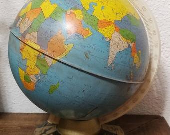 Metal Zodiac Globe