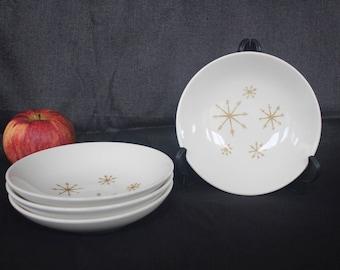 Vintage Star Glow Small Bowls x4 Royal China Mid Century Atomic Era
