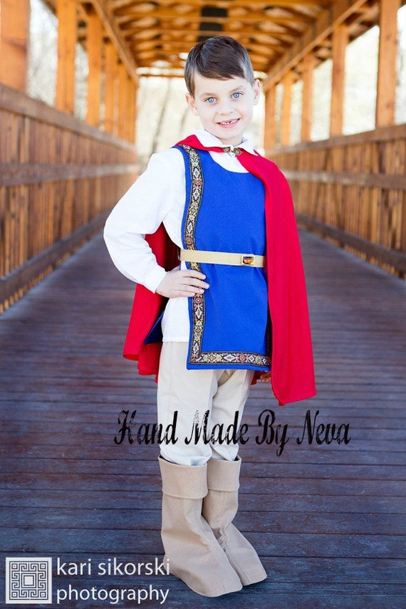 & Snow White Prince Costume Youth King Cape Toddler First