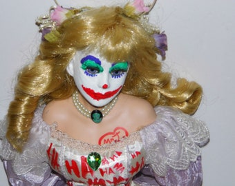 Exquisite Mrs. J Demonic Dollie - Jokerette Doll - #1 Joker Fan -See shop for more Awesome Scary Dolls