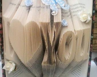 I (heart) you folded book art