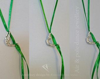 "Aerial Silk Jewelry Pendant ""Full Moon"""