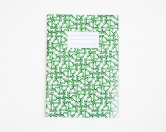 Green soldier printed A5 notebook