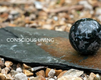 Gabbro and Moonstone Crystal Sphere 50 mm-  Madagascar Chakra, Reiki, Feng Shui, Space Clearing