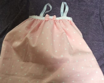 Pink Polka Dot Nightgown For 18 Inch Doll