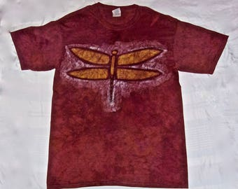 Batik T-shirt with Dragonfly Pattern