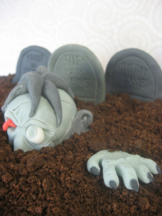 The Walking Dead Cake Topper Zombie Cake Topper Halloween