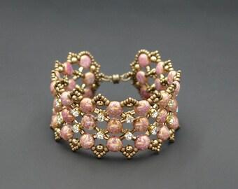 Preciosa Candy Beads Bracelet Tutorial - Candy Dots Bracelet - Beading Pattern - PDF Pattern - Digital Download