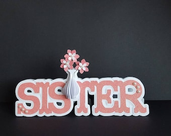 Handmade Sister birthday card & box