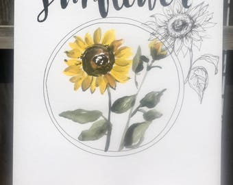 Sunflower print 11x14in!