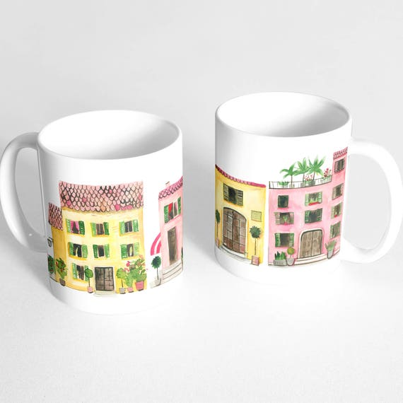 Italian Houses Coffee Mug - Italy Mug - Travel Mug - Italian Architecture -  Italian Homes