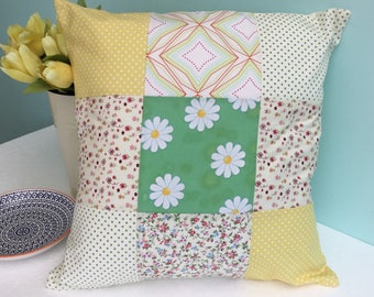 Patchwork cushion - patchwork pillow