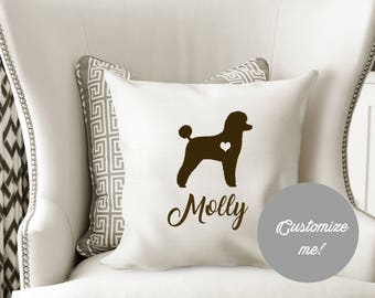 Poodle dog pillow Cover