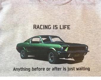 Ford Mustang Bullitt Steve McQueen t shirt