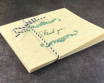 Floral Swirl Thank You Card (Set of 10)