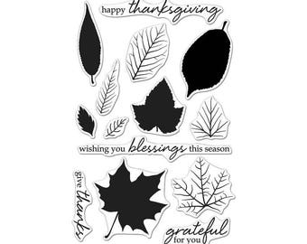 Hero Arts Color Layering Grateful Leaves Stamp Set