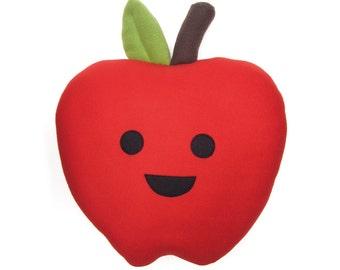 Large Happy Apple Plush Pillow
