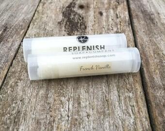 French Vanilla Lip Balm, Handmade, Natural Lip Balm, Chapstick, Lip gloss, Lip Butter, Lipstick, Favors, Gift for her, Shea Butter