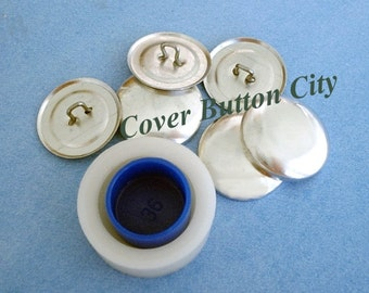 Cover Button Starter Kit  Size 36 (7/8 inch) -  Wire Backs