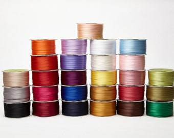 3/8 Inch Double Faced Satin Ribbon by the yard Lots of Colors to Choose From