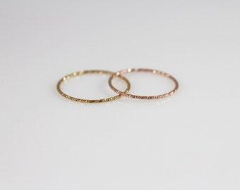 14K Solid Gold Ring B, 14K Gold Stacking Ring, 14K Gold Thin Ring, 14K Gold Stackable Ring, 14K minimalist Ring,14K knuckle ring, midi ring