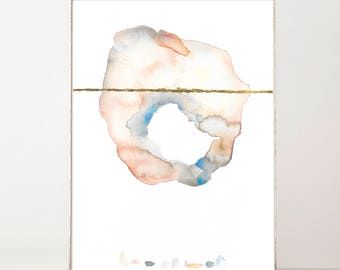Abstract, Modern, Print, Watercolor, Contemporary Art, Abstract Painting, Large Abstract Décor, Abstract Nursery Prints, Trending Now, Gold