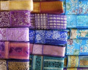 20 Yards Vintage Trim, Sari Borders, Vintage Fabrics, SR60