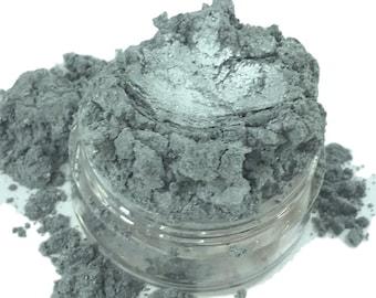 ARDENT Metallic Silver Eye Shadow Eyeliner Shimmer Mineral Eye Shadow 5g Sifter Jar Gray eyeshadow Vegan Natural mineral Mica Makeup ARDENT