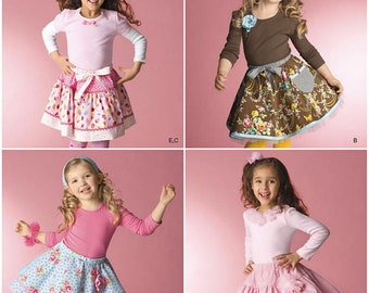 Simplicty Pattern 2356, Child's and Girls' Skirts, Slips, & Hair accessories, ruffled, tiered, twirl skirts, Sz 3-8, New, UN-CUT
