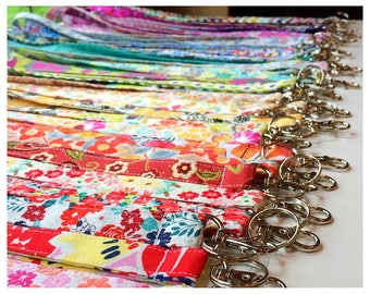 Lanyard, Fabric Lanyard, ID Badge Holder, Key Holder - Choose your design [1-44]