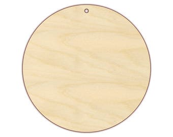 Circle Ornament Blank - Christmas Ornament - 170147 - Unfinished wood