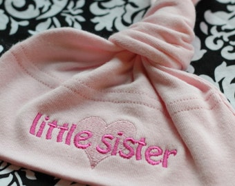 Little Sister Baby Knot Hat - Light Pink