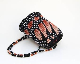 Monarch Butterfly Wing Wearable Basket Necklace