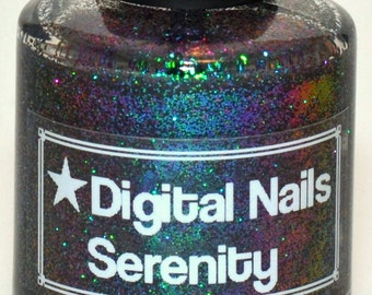 Serenity: A Multicolored shifting glitter nail lacquer by Digital Nails