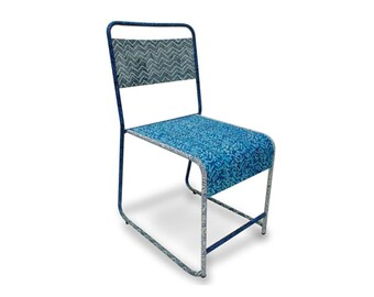 Batik School Chair in Ocean Blue