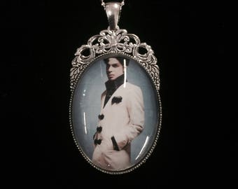 PRN White Suit Cameo Necklace