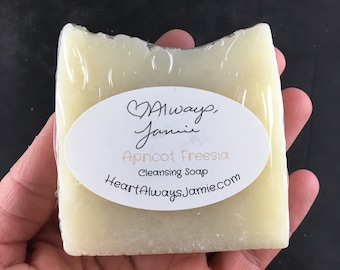 Handmade Apricot Freesia Kitchen, Hand and Body Bar Soap, Coconut and Olive Oil Base