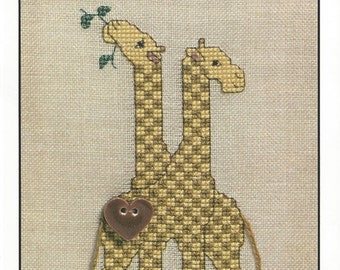 """Clearance - """"Noah and Company - Giraffes"""" Counted Cross Stitch Chart by The Artists Collection"""