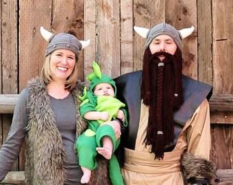 Viking Hat with Detachable Beard
